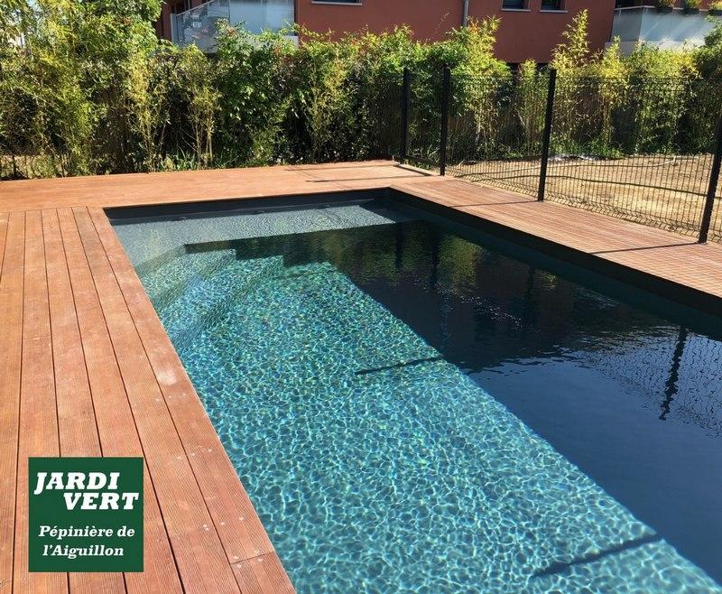 Construction d'une piscine avec terrasse bois à La Salvetat Saint Gilles