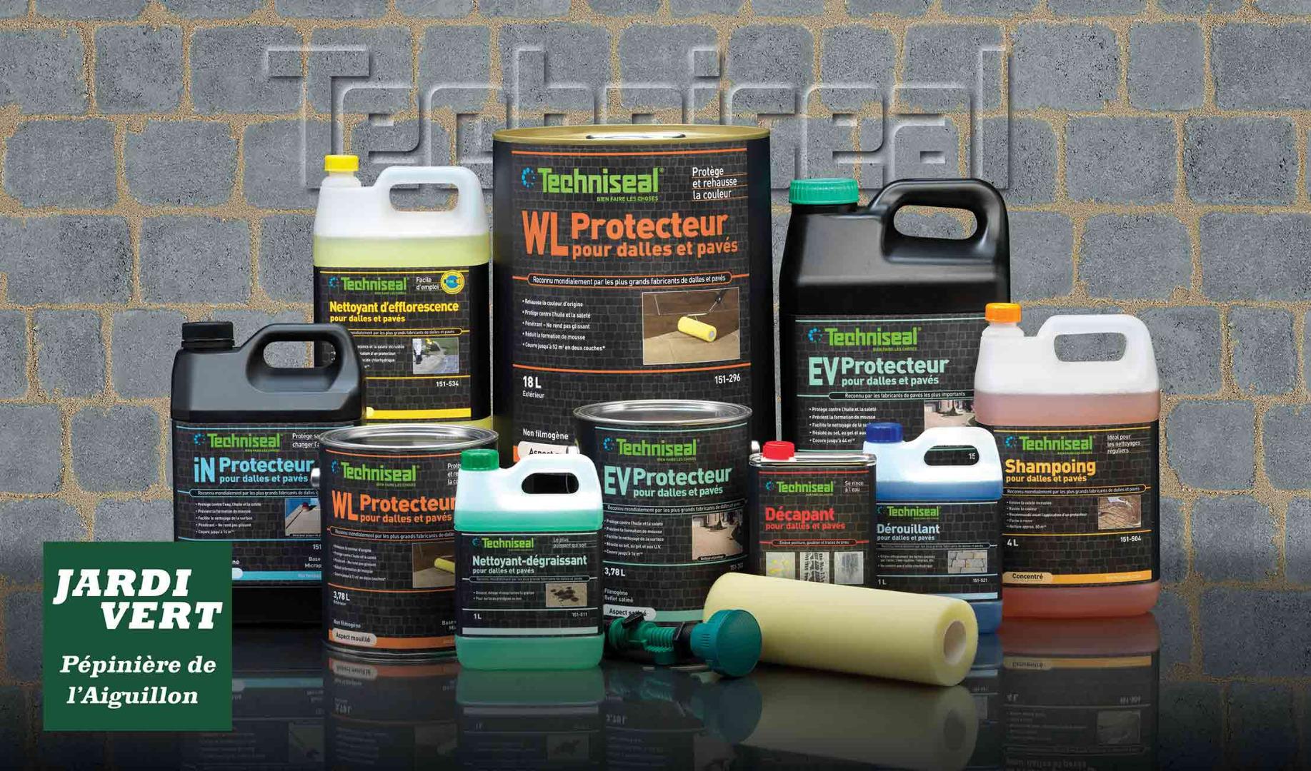 Jardi Vert, création et rénovation de votre allée, distributeur des produits nettoyants béton TECHNISEAL