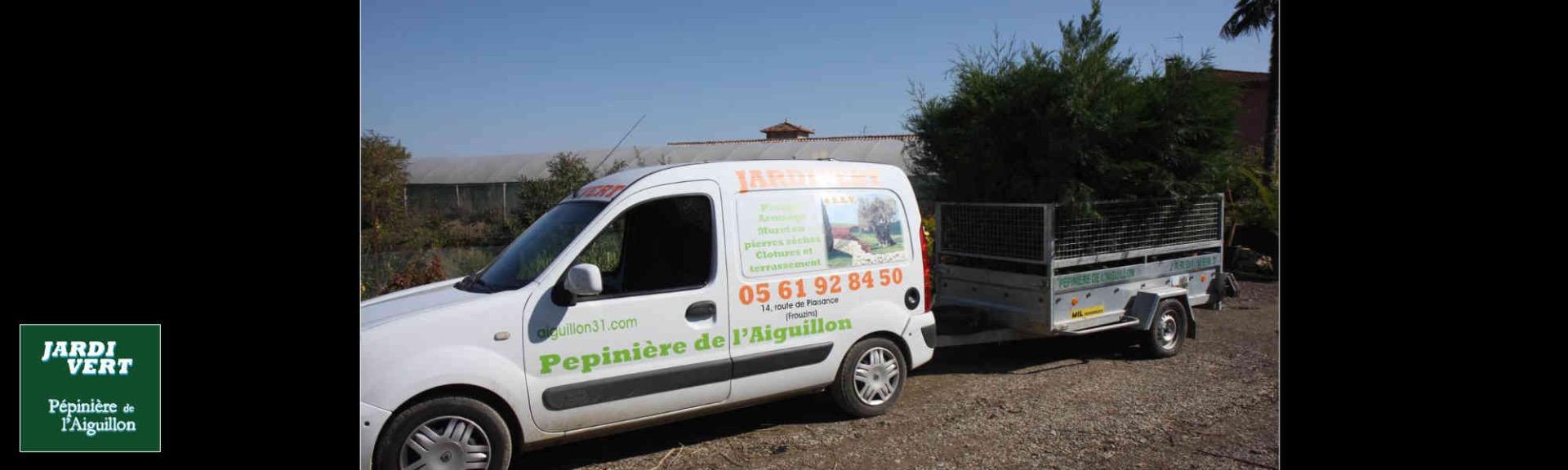 Livraison et plantation d'arbres arbustes cypres - Pépinière de l'Aiguillon producteur Toulouse