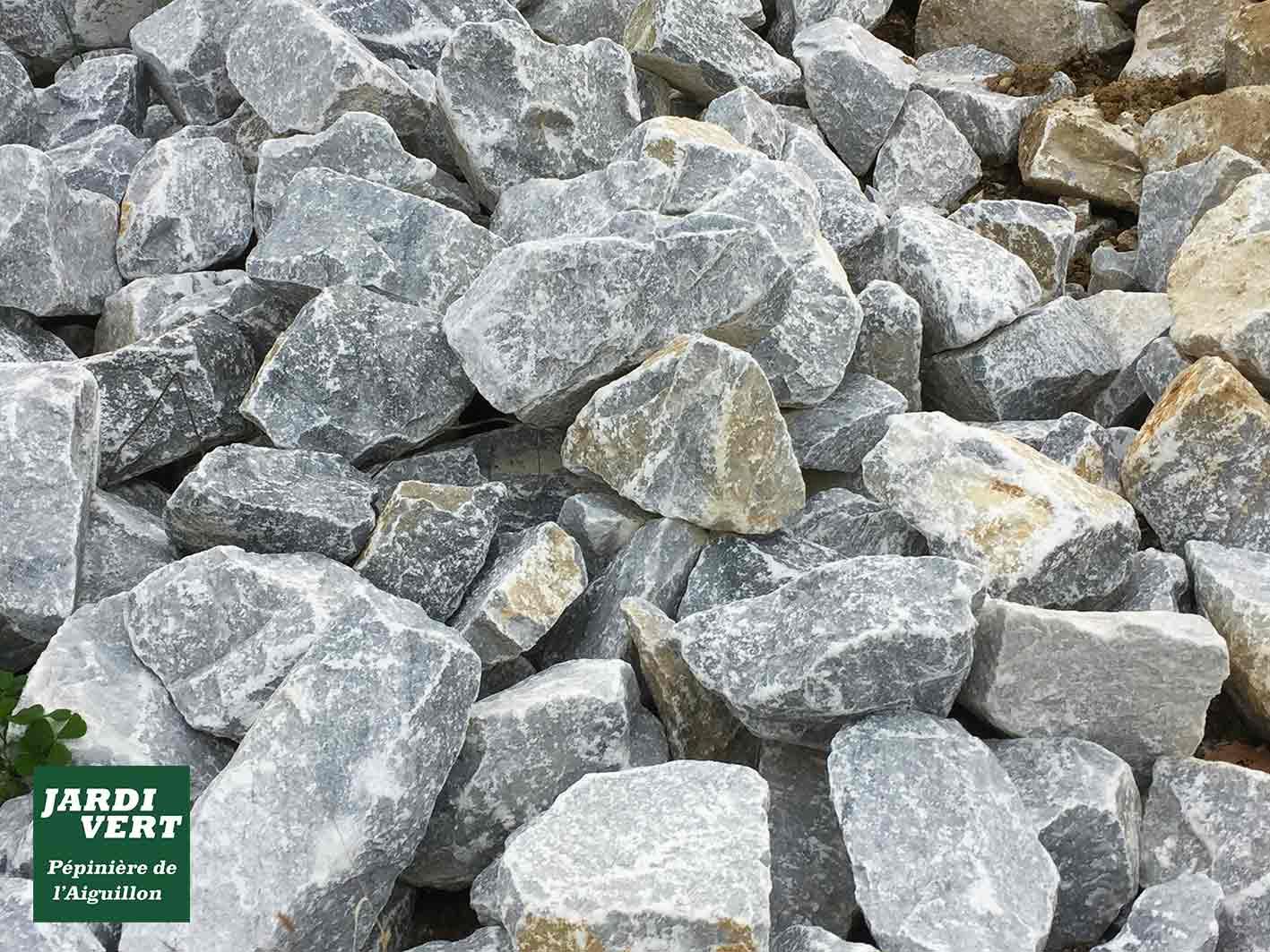 Vente de pierres bleu gris, rocher, caillous déco pour jardin minéral et massifs - Pépinière de l'Aiguillon Frouzins