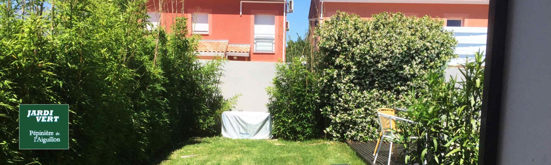 Plantation, installation de barrière pour bambou - Jardi Vert Pépinière de l'Aiguillon Toulouse